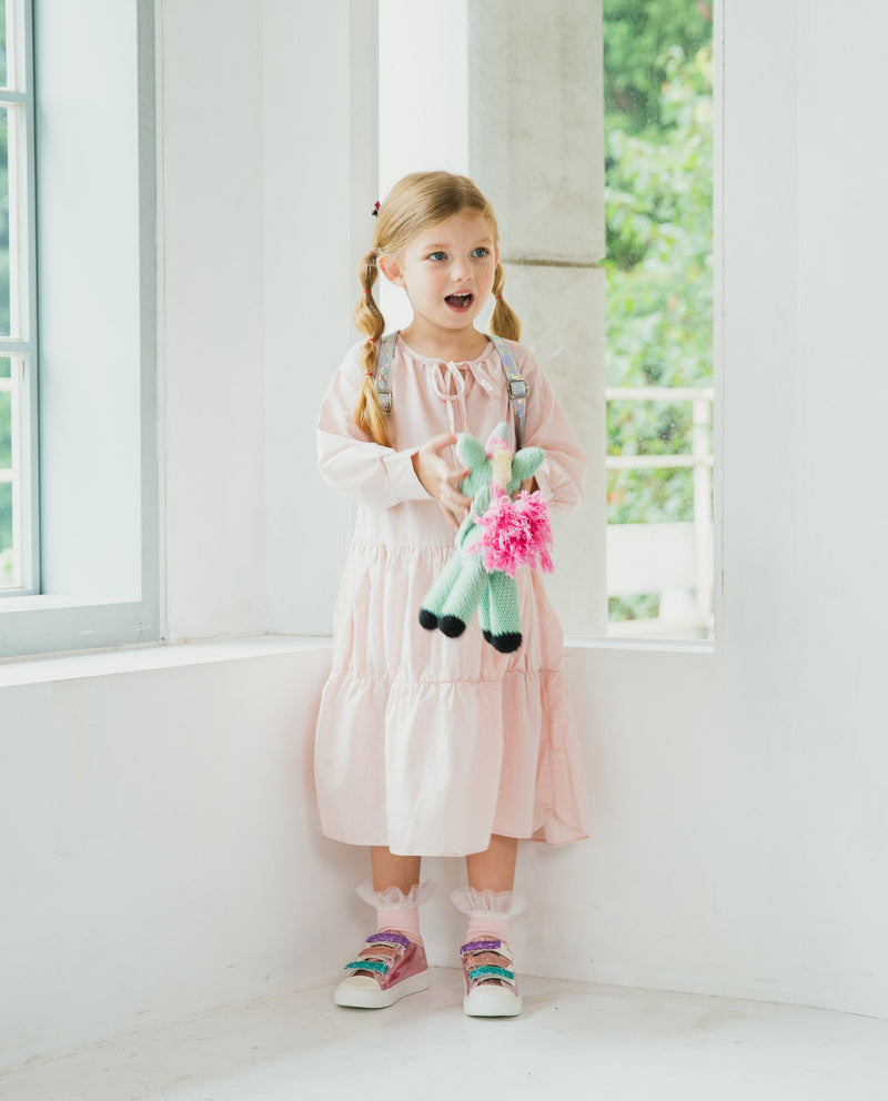 [Out of Stock] Ribbon Tie Double Tier Dress