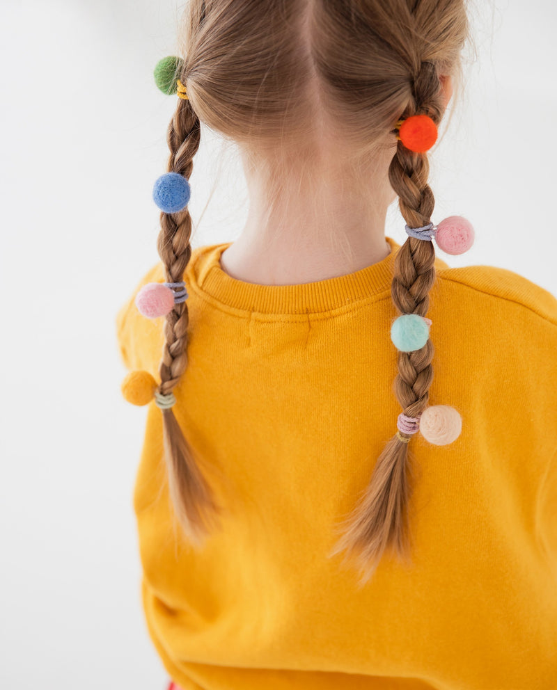[Out of Stock] [SET] Rainbow Pom Pom Hair Ties
