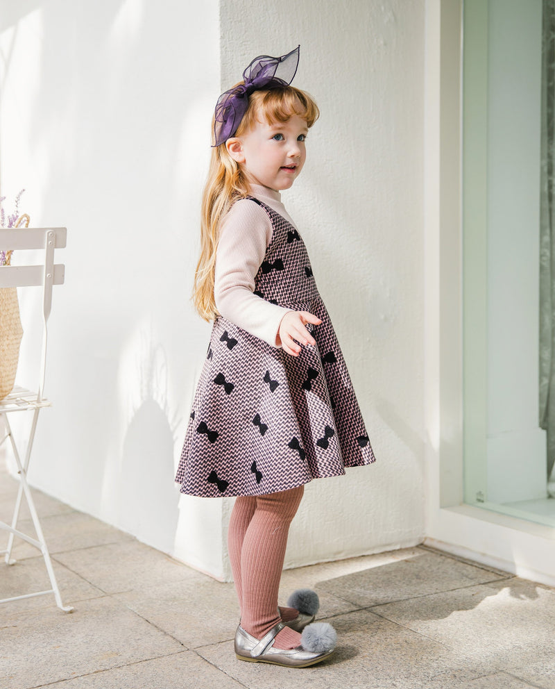 [Out of Stock] Bow Patterned Dress