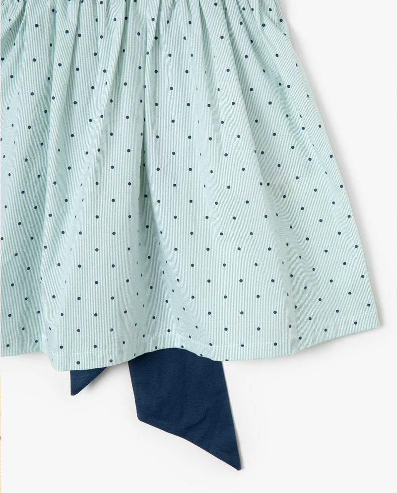 [Out of Stock] Polka Dot Square Neck Ruffle Dress