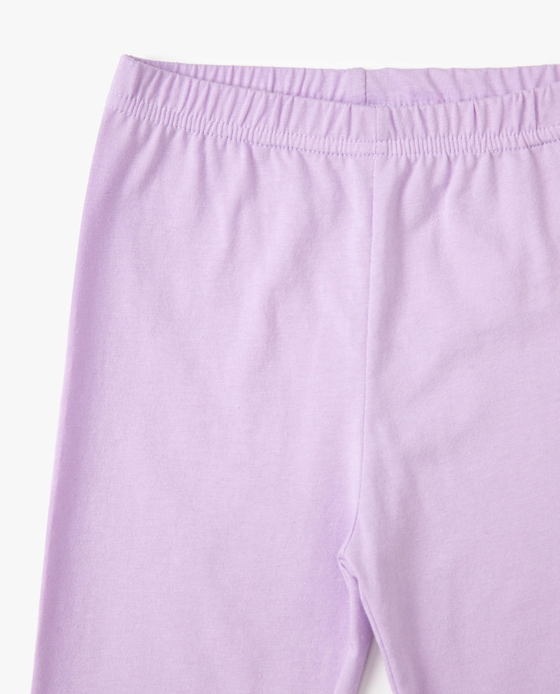 Supima Cotton Biker Legging Lilac