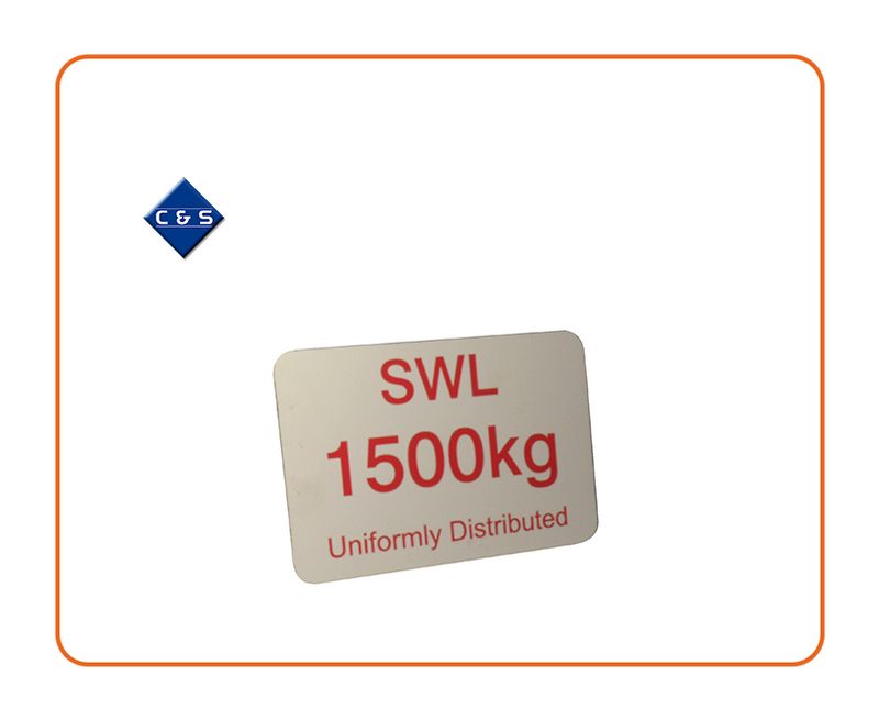 1500 SWL Label - C and S Shutters