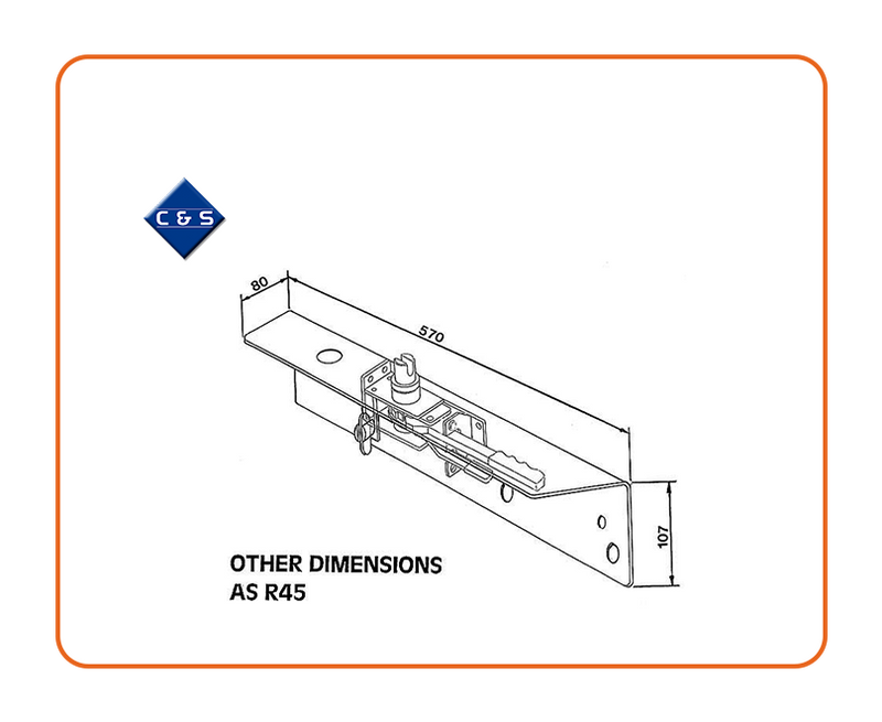 Curtain Tensioners - R45CF - C and S Shutters