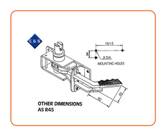 Curtain Tensioners - R45D - C and S Shutters