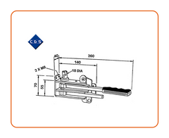Curtain Tensioners - R46 - C and S Shutters