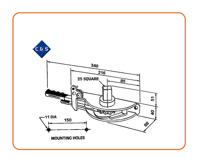Curtain Tensioners - R64 - C and S Shutters