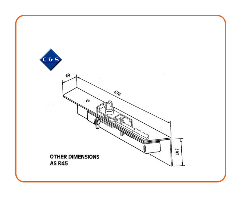 Curtain Tensioners - R67 - C and S Shutters