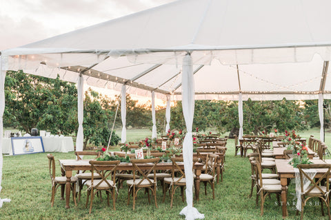 wedding rentals - tent, chairs & tables