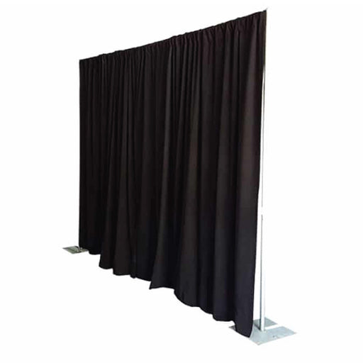 Pipe & Drape with Black Curtain