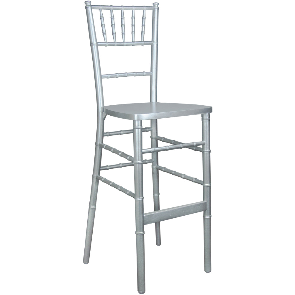 Chiavari Bar Stool Silver