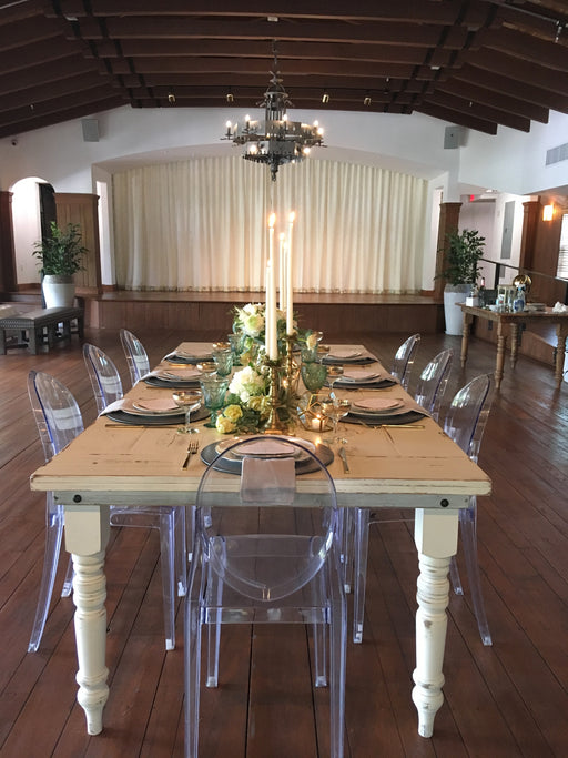 White Washed Wood Farm Table