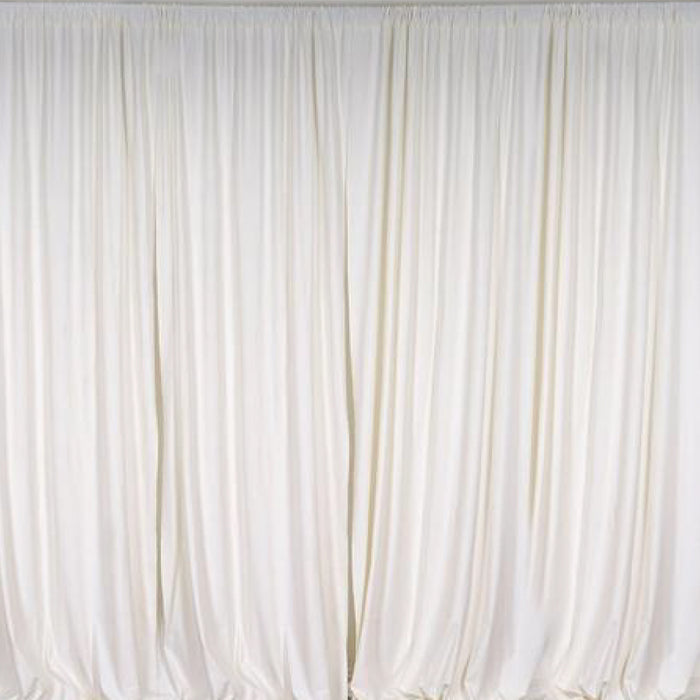 Pipe & Drape with Ivory Curtain
