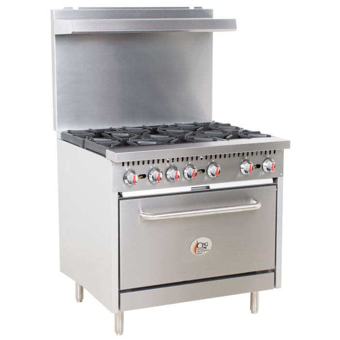 6 Burner Gas Range with Standard Oven