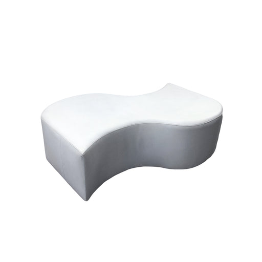 White Lounge: S Shape Bench