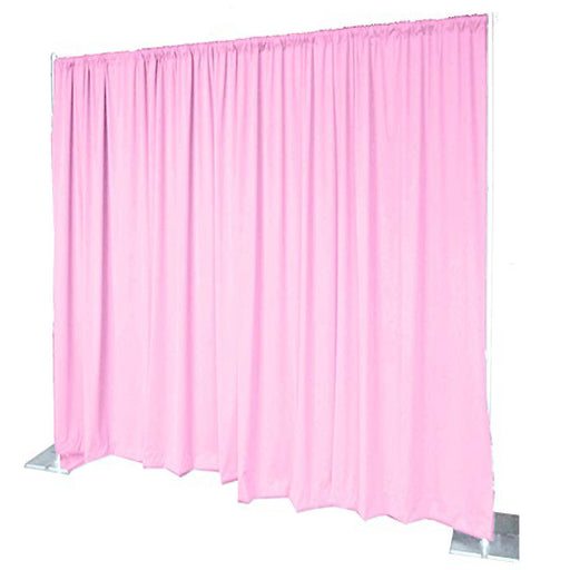 Pipe & Drape with Light Pink Curtain