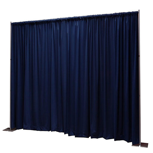 Pipe & Drape with Navy Blue Curtain