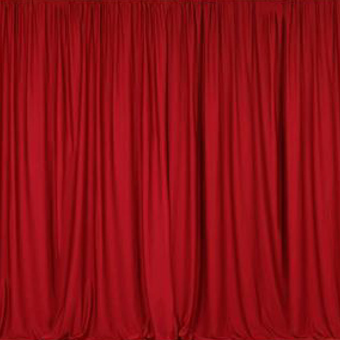 Pipe & Drape with Red Curtain