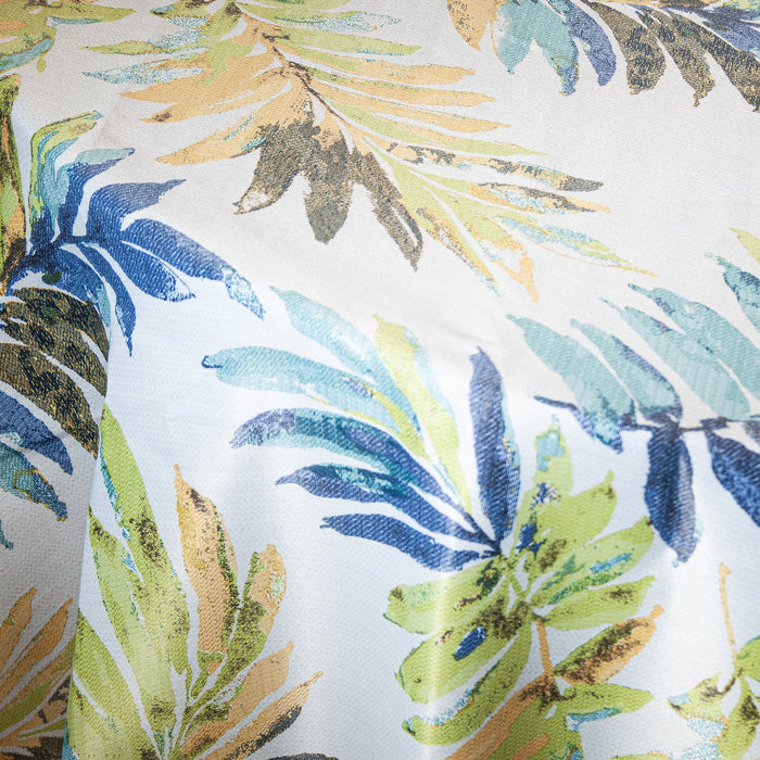 Green / Blue Mayorquina Tropical Print Polyester