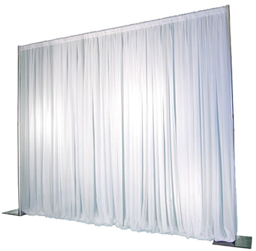 Pipe & Drape with White Curtain