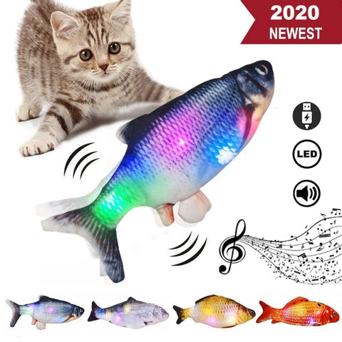 Moving Music Fish Toy en Fish Cat Wagging Toy