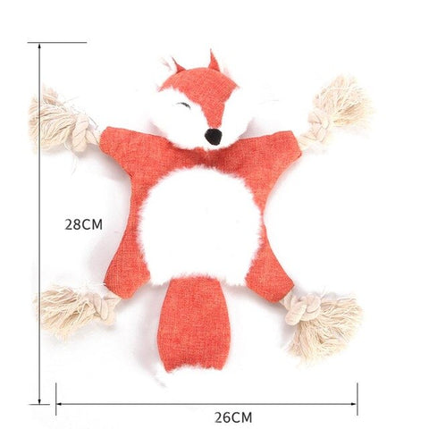 Soft Plush Squirrel Chewing Toy