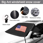 "American Flag Windshield Snow Cover with Two Mirror Covers - 64.17"" * 47.24"" - Online store for your car"