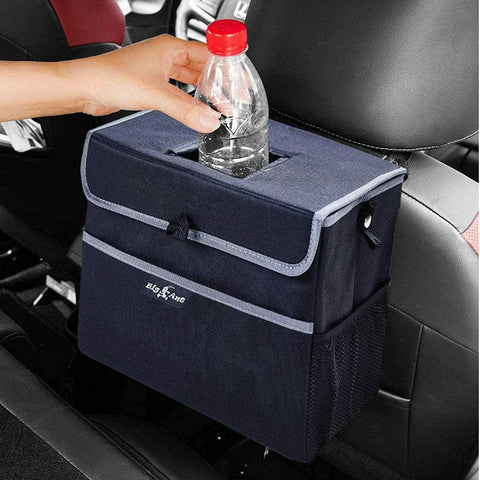 Car Trash Can with Lid, Waterproof Auto Garbage Bin Large - Black - Online store for your car