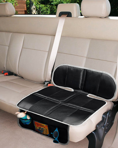 Car Seat Protector for Child & Baby, Dog Mat with Storage Pocket - Black - Online store for your car