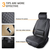2 Pack Car Seat Covers with Lumbar Support, Big Ant Universal Auto Seat Cover Seat Protector, Anti-Slip Car Seat Cushion Pad for Car Truck Van SUV(Black)