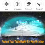 "Car Cover Custom Fit for Tesla Model 3, with Ventilated Mesh-190""L (Silver) - Online store for your car"