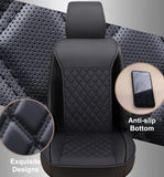 Edge Wrapping Car Seat Covers with Backrest 1 Piece - Black - Online store for your car