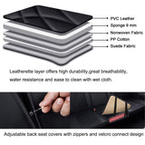 Car Seat Covers Full Set Waterproof Leather - Black - Online store for your car