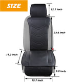 Car Seat Covers with Backrest 2 Pieces Universal Fit - Black&Beige&Grey - Online store for your car