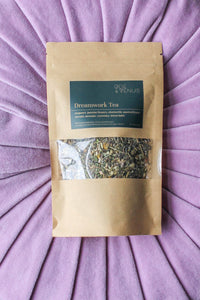 Dream Tea Herbal Blend For Lucid Dreaming, Dream Recall, Intuition, Astral Travel - Mugwort, vervain, crystal infused