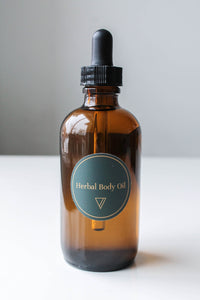 Herbal Infused Body Oil - Rose Infused Extra Virgin Olive Oil with Lavender - Calms and Relaxes - Ode To Venus