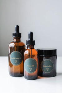 Body Care Bundle - Body Polish, Herbal Body Oil, Venus Oil - Ode To Venus