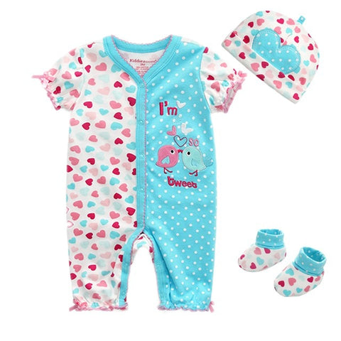 01f12395b3cf6 3pcs Newborn Girl Winter Clothes Infant Jumpsuit – BabyLag.com