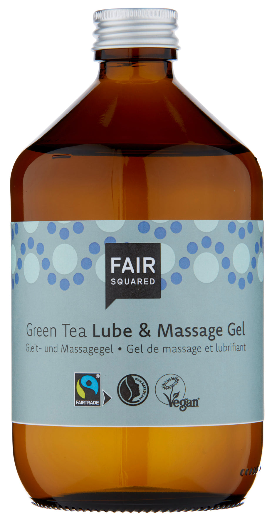 Fair Squared, intimlube & massage gel green tea, 500ml plastfrie