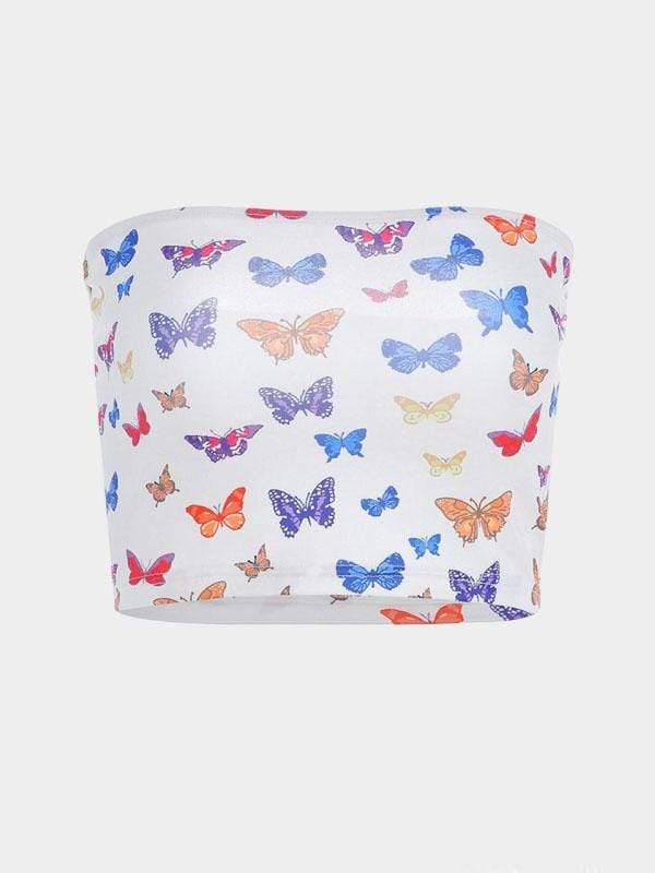 ALLOVER BUTTERFLY PRINT CAMI