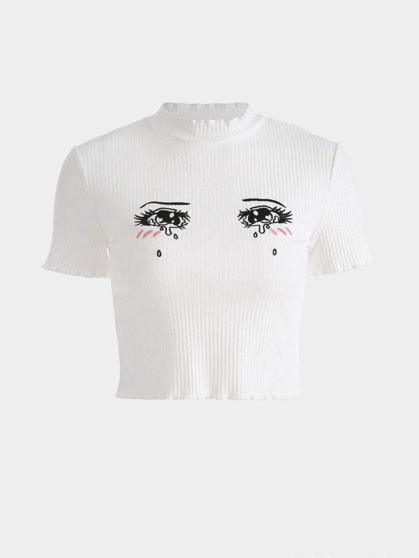 ANIME CRYING EYES CROP TOP L