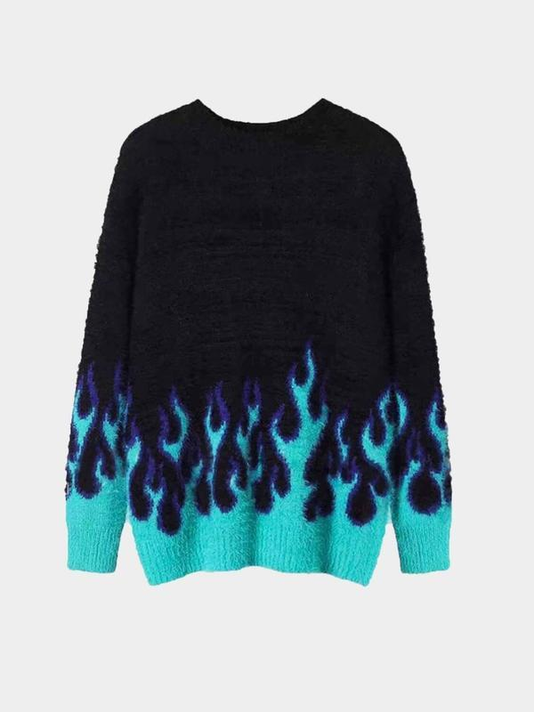 BLUE FLAME KNIT SWEATER