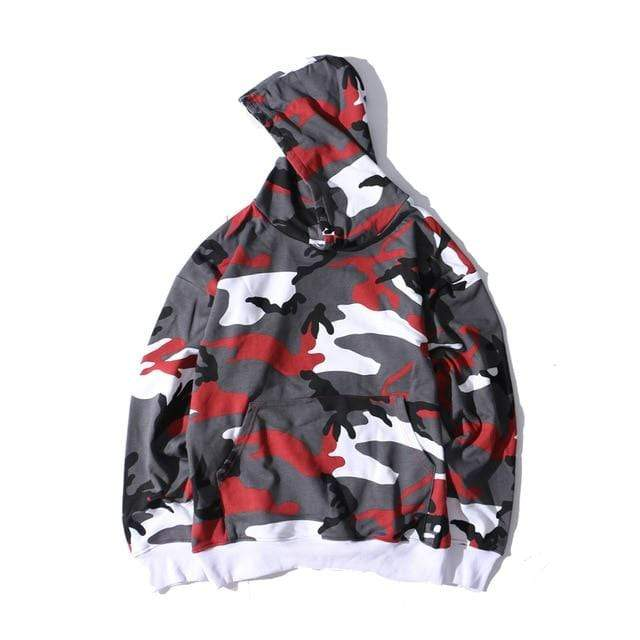 CAMO HOODIE Red / L