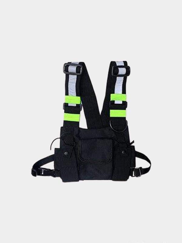 CHEST BAG MILITARY REFLECTIVE Black