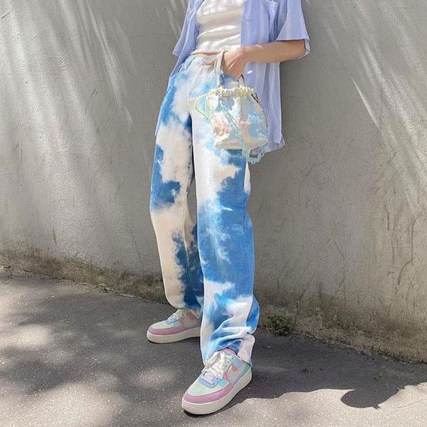 CLOUD PRINT PANTS