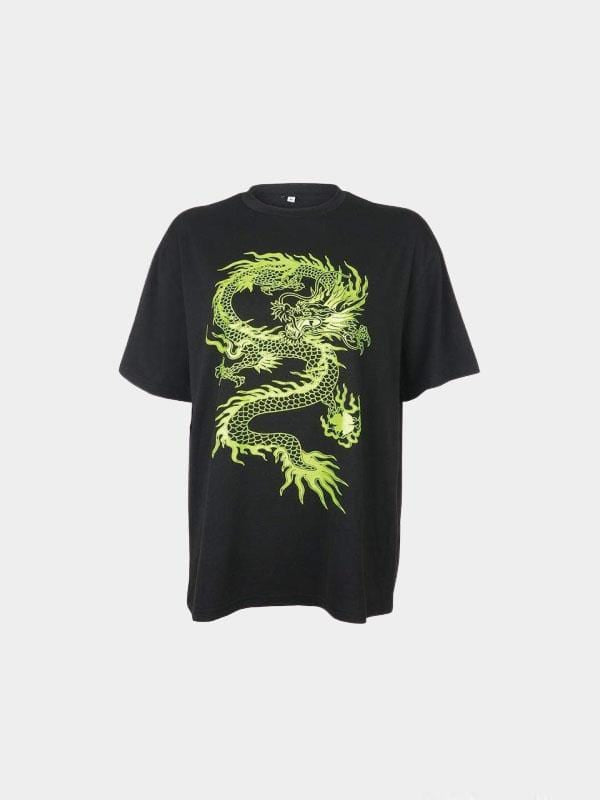 DRAGON T-SHIRT Black / M
