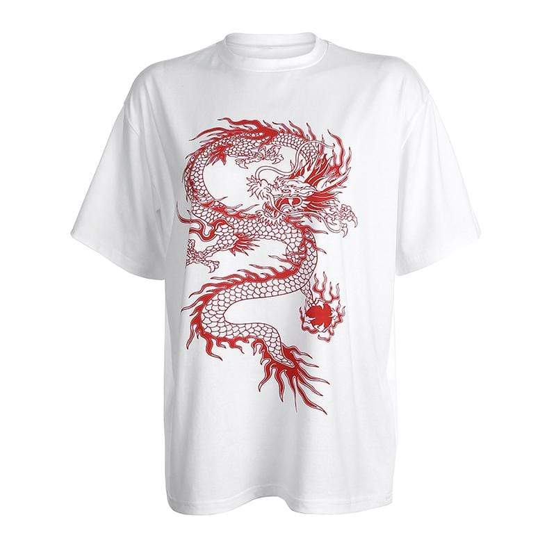 DRAGON T-SHIRT White / L