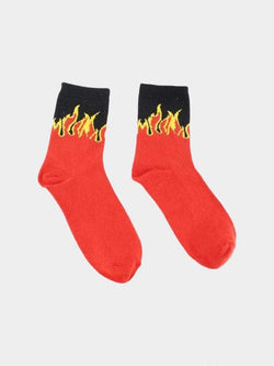 FIRE FLAME SOCKS Red