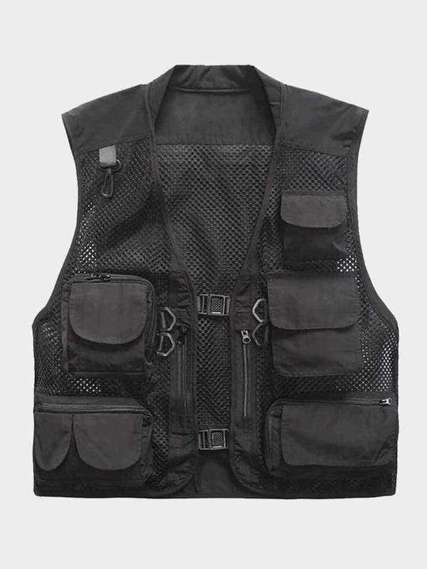 FISHING VEST Black / XXL
