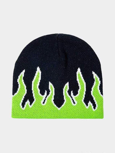 FLAME BEANIES HATS Green