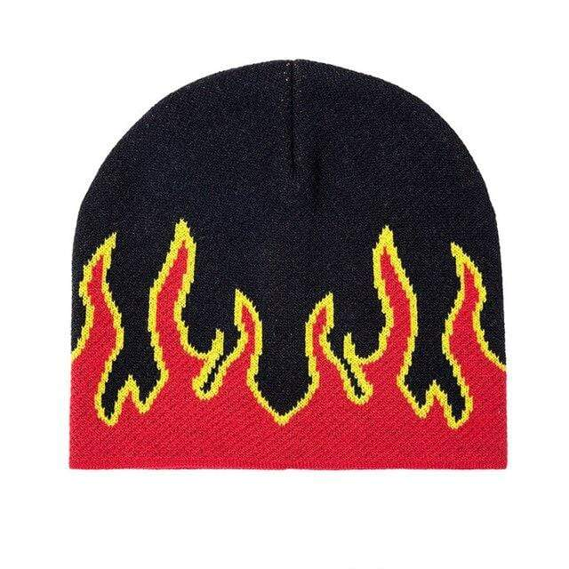FLAME BEANIES HATS Red